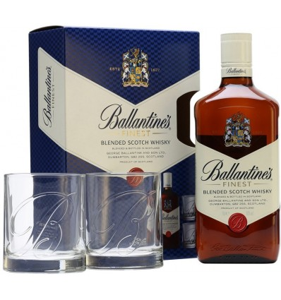 Ballantines 12YO 0,7l 40% + 2x sklo