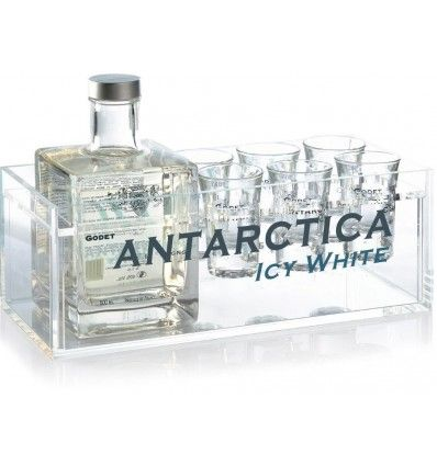 Godet Antarctica Folle Blanche Cognac 7yo 0,5l 40% Dárkové balení + 6 panáků