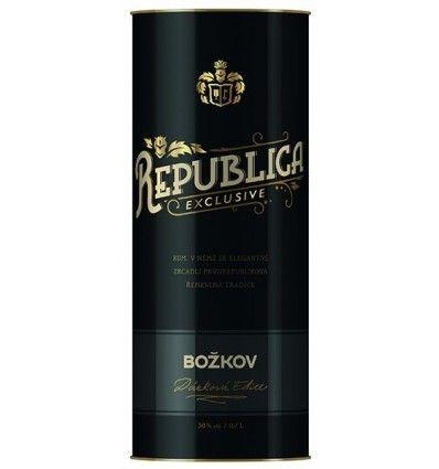 Božkov Republica Exclusive Rum 0,7l 38% Dárkové balení - Tuba