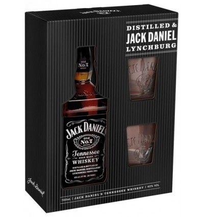 Jack Daniels 0,7l 40% Dárkové balení + 2 skleničky