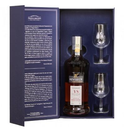 Reviseur VS Single Estate Cognac 0,7l 40% Dárkové balení + 2 skleničky