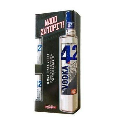Vodka 42 Blended 0,5l 42% + 2 skla