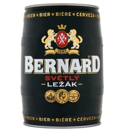 Bernard Světlý ležák 5L soudek