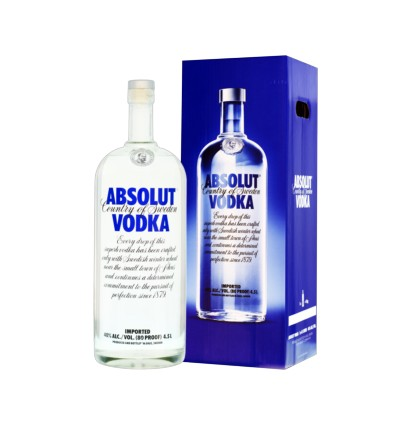 Absolut vodka Blue 3l 40%