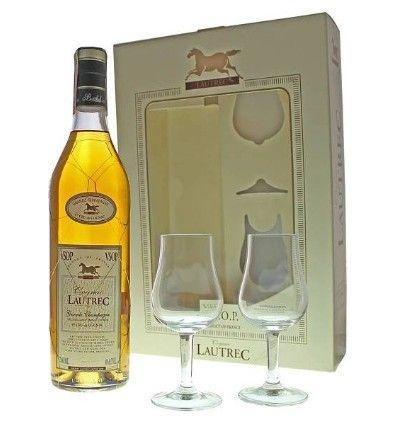 Cognac Lautrec VSOP 0,7l 40% + 2 skla