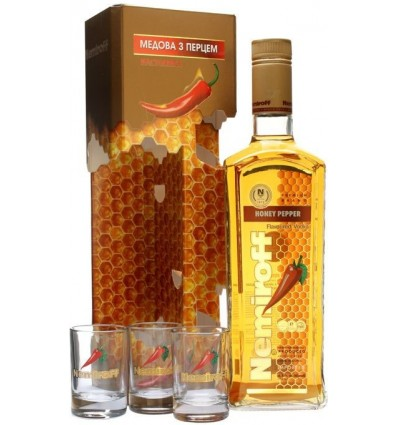 Nemiroff Honey Pepper Vodka 0,7l 40% + 3 skla