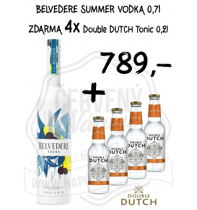 Belvedere Summer Edition 0,7l 40% + 4x tonik Double Dutch