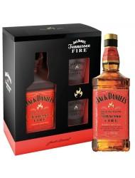 Jack Daniels Fire 0,7l 35% + 2 skleničky