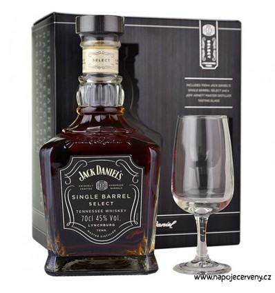 Jack Daniels Single Barrel 0,7l 45% + sklenička