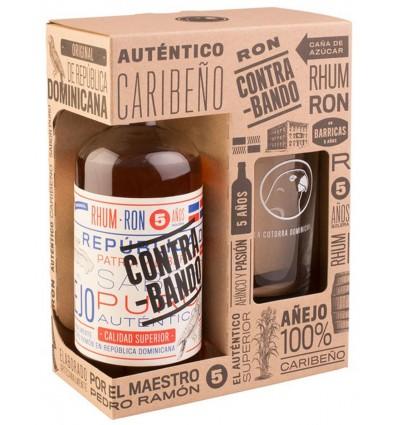 Contra Bando Rum 5y 0,7l 38% + 1x sklo