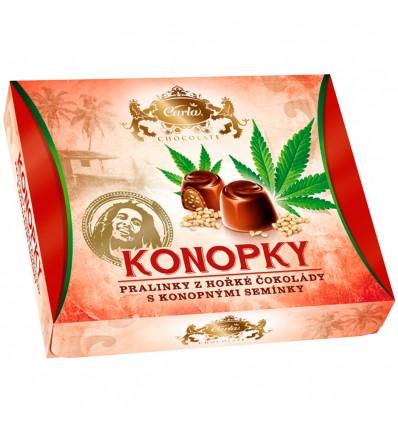 Carla Konopky - pralinky z hořké čokolády s konopným semínkem