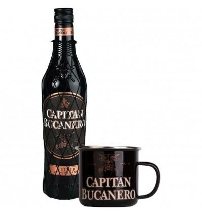 Capitan Bucanero Elixir Rum 7y 0,7l 34% + Plecháček