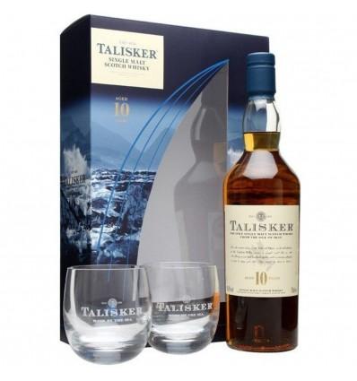 Talisker 10y Whisky 0,7l 45,8% + 2x sklo