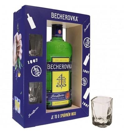 Becherovka 0,7l 38% + 2 skleničky