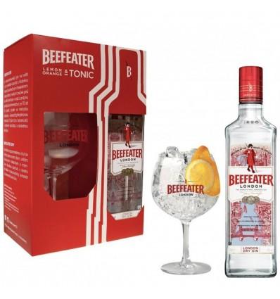 Beefeater gin 0,7l 40% + sklenička