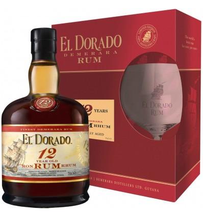 El Dorado Rum 12y 0,7l + 1 sklenička
