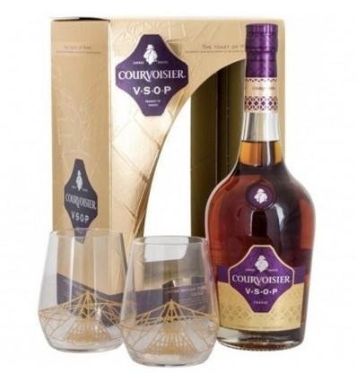 Courvoisier VSOP Cognac 0,7l 40% + 2 skleničky