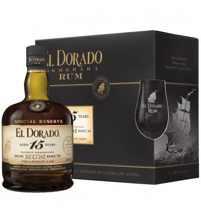 El Dorado 15y Rum 0,7l 43% + 2 skleničky