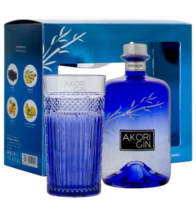Akori Gin 0,7l 42% + Sklenička