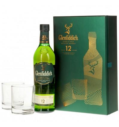 Glenfiddich Single Malt Whisky 12y 0,7l 40% + 2 Skleničky