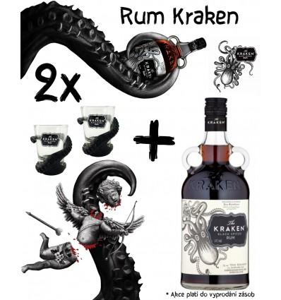 Kraken Black Spiced 1l 40% + 2 Panáky