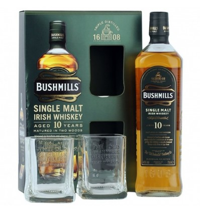 Bushmills 10y Whiskey 0,7l 40% + 2 skleničky