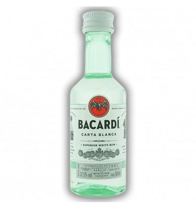 Bacardi Carta Blanca Miniatura 0,05l 37,5%