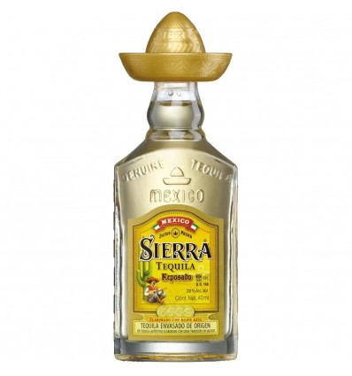 Tequila Sierra Gold Mini 0,04l 38%
