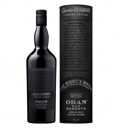 Night's Watch & Oban Bay Reserve - Game of Thrones Whisky 0,7l 43%