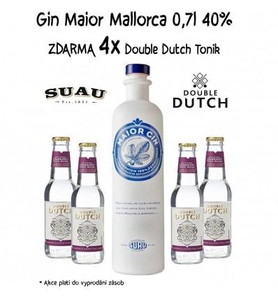 Maior Gin 0,7l 40% + 4 x Double Dutch Cramberry 0,2l