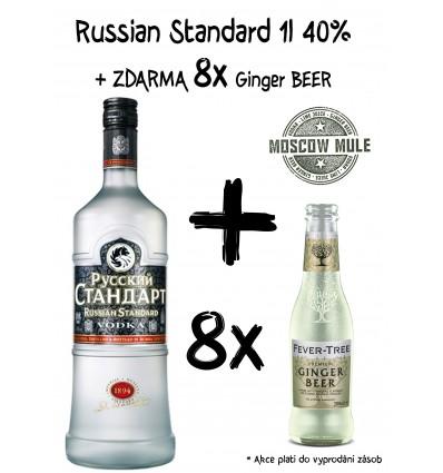 Russian Standard Original Vodka 1l 40% + 8 x Ginger Beer ZDARMA