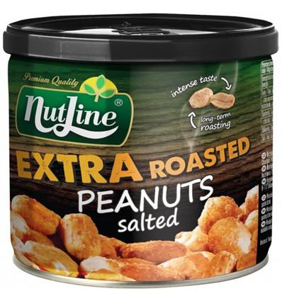Nutline Extra arašídy loupané pražené solené a ochucené 135g