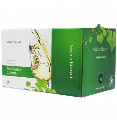 Veltlínské Zelené 5L Bag in Box Patria Kobylí