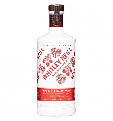 Whitley Neill Strawberry & Black Pepper Gin 0,7l 43%