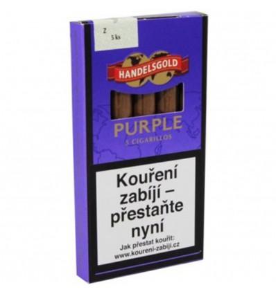 Doutníky Handelsgold Purple bez špičky - 5 ks