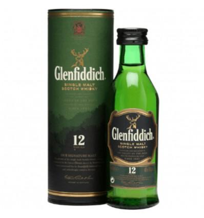 Glenfiddich 12y Miniatura 0,05 l 40% (tuba)